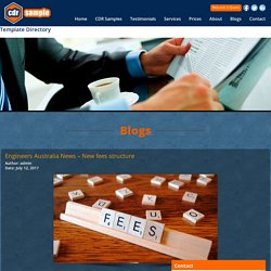 Engineers Australia News – New fees structure