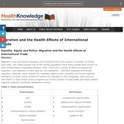 Migration and the Health Effects of International Trade