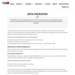 Data Migration - Data Management Services
