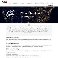 Cloud migration - Data Management Services