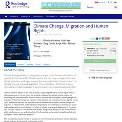 Climate Change, Migration and Human Rights: Law and Policy Perspectives (Hardback)