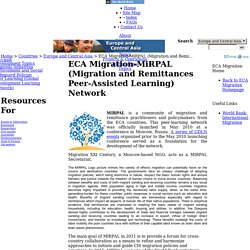 Europe and Central Asia - ECA Migration-MiRPAL (Migration and Remittances Peer-Assisted Learning) Network