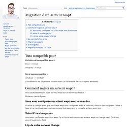Migration d'un serveur wapt — WIKI Les fourmis du libre