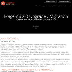 Magento 2.0 Upgradation Services