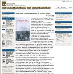 Migration und Politik in der Weimarer Republik - Ausgabe 7 (2007), Nr. 1