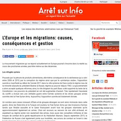L'Europe et les migrations: causes, conséquences et gestion