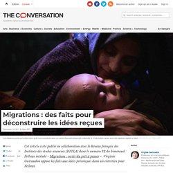 Migrations: des faits pour déconstruire les idées reçues