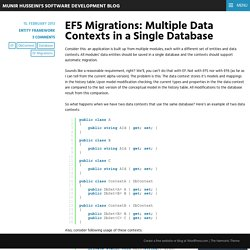EF5 Migrations: Multiple Data Contexts in a Single Database