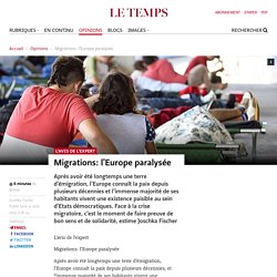 Migrations: l'Europe paralysée