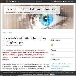 La carte des migrations humaines par la génétique - journal de bord d'une citoyenne