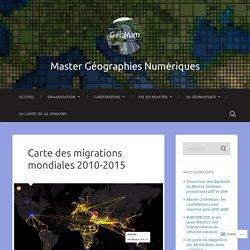 Carte des migrations mondiales 2010-2015 – Master Géographies Numériques