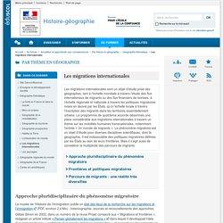 Les migrations internationales-Histoire-géographie-Éduscol