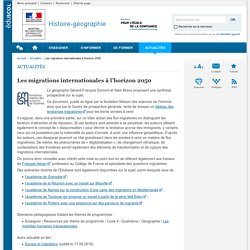 Les migrations internationales à l'horizon 2050-Histoire-géographie-Éduscol