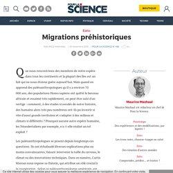 Migrations préhistoriques