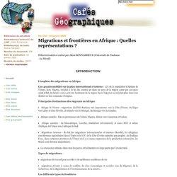 Migrations et frontières en Afrique : Quelles représentations ?