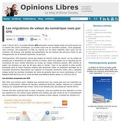 Les migrations de valeur du numérique vues par GFK