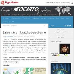 [Billet] La frontière migratoire européenne – Carnet (neo)cartographique