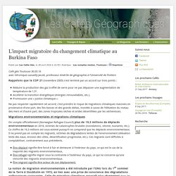 L'impact migratoire du changement climatique au Burkina Faso