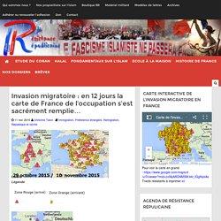 Invasion migratoire : en 12 jours la carte de France de l'occupation s'est sacrément remplie...