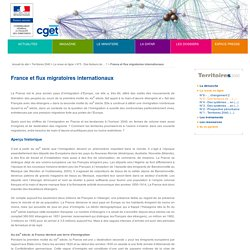 France et flux migratoires internationaux