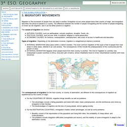 5. MIGRATORY MOVEMENTS - 3º ESO. Geography