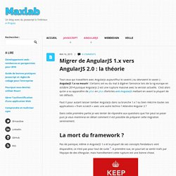 Migrer de AngularJS 1.x vers AngularJS 2.0 : la théorie - Maxlab