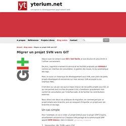 Migrer un projet SVN vers GIT - yterium.net