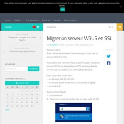 Migrer un serveur WSUS en SSL - TechSpace