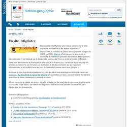 Un site : Migrinter-Histoire-géographie-Éduscol