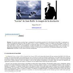 """Miguel Díez R.: """"Luvina"""" de Juan Rulfo: la imagen de la desolación- nº 38 Espéculo"""