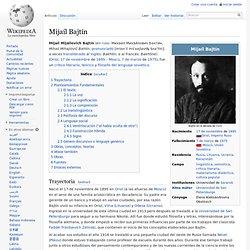 Mijaíl Bajtín