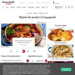 Mijoté de poulet à l'espagnole