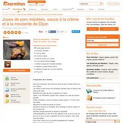 Joues de porc mijotées, sauce à la crème et à la moutarde de Dijon : Recette de Joues de porc mijotées, sauce à la crème et à la moutarde de Dijon