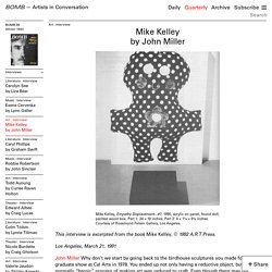 Mike Kelley by John Miller