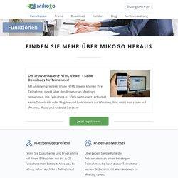 Mikogo Funktionen für Ihre Online Meetings