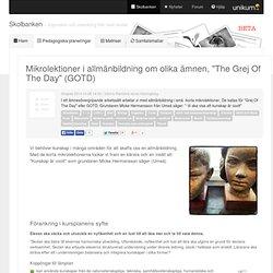 """Mikrolektioner i allmänbildning om olika ämnen, """"The Grej Of The Day"""" (GOTD)"""