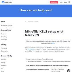 MikroTik IKEv2 setup with NordVPN