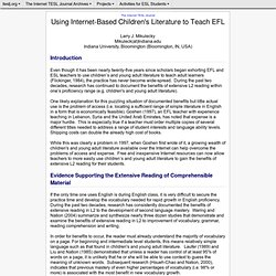 Mikulecky - Using Internet-Based Children's Literature to Teach EFL