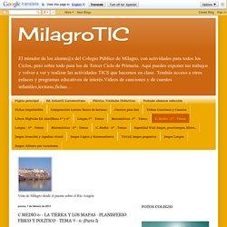 MilagroTIC: C MEDIO 6º - LA TIERRA Y LOS MAPAS - PLANISFERIO FÍSICO Y POLÍTICO - TEMA 9 - 6º (Parte I)
