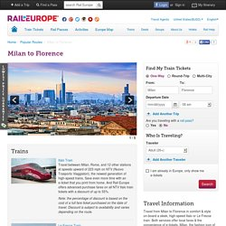 Milan to Florence Train Tickets
