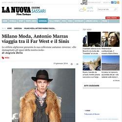 Marras alla settimana della Moda di Milano