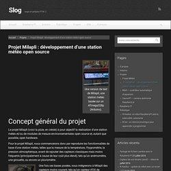 Milapli : station météo open source