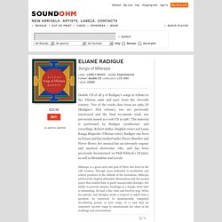 Songs of Milarepa-Eliane Radigue-Songs of Milarepa-double CD-Soundohm