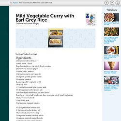 Mild Vegetable Curry with Earl Grey Rice