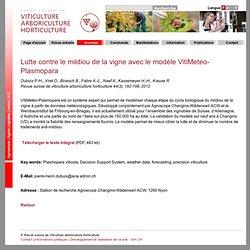 Revue suisse de viticulture arboriculture horticulture 44(3), 192-198, 2012 Lutte contre le mildiou de la vigne avec le modèle V
