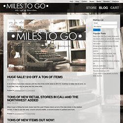 Miles to go clothing - literary based designs focused on the art