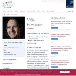 Miles Hewstone — PSY