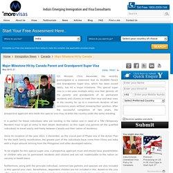 Major Milestone Hit by Canada Parent and Grandparent Super Visa