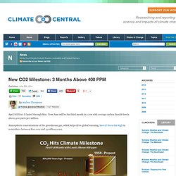 New CO2 Milestone: 3 Months Above 400 PPM