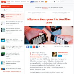 Milestone: Foursquare hits 10 million users - Apps